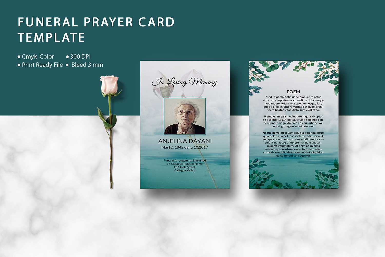 Funeral Prayer Card Template, Ms Word & Photoshop Template In Prayer Card Template For Word