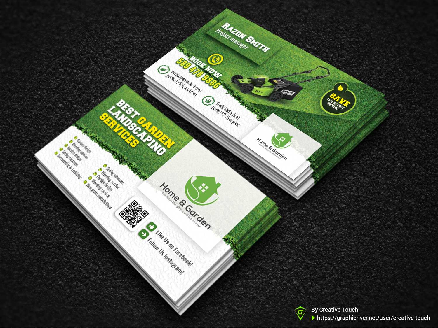 Garden Business Cardcreative Touch On Dribbble Pertaining To Gardening Business Cards Templates