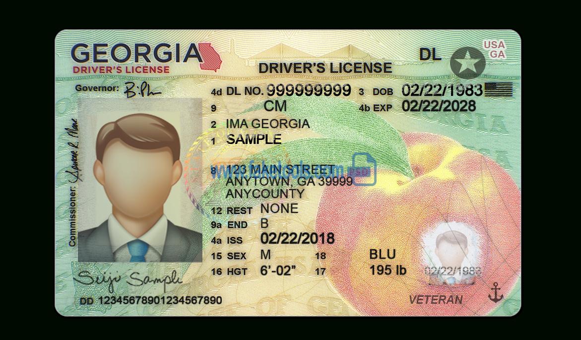 Georgia Driving License Psd Template New Version (V1) Inside Georgia Id Card Template