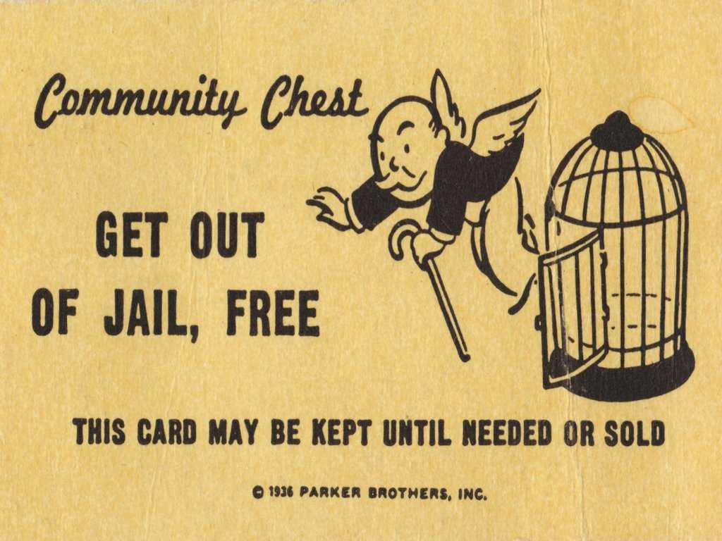 Get Out Of Jail Free Card Monopoly Blank Template - Imgflip Regarding Get Out Of Jail Free Card Template