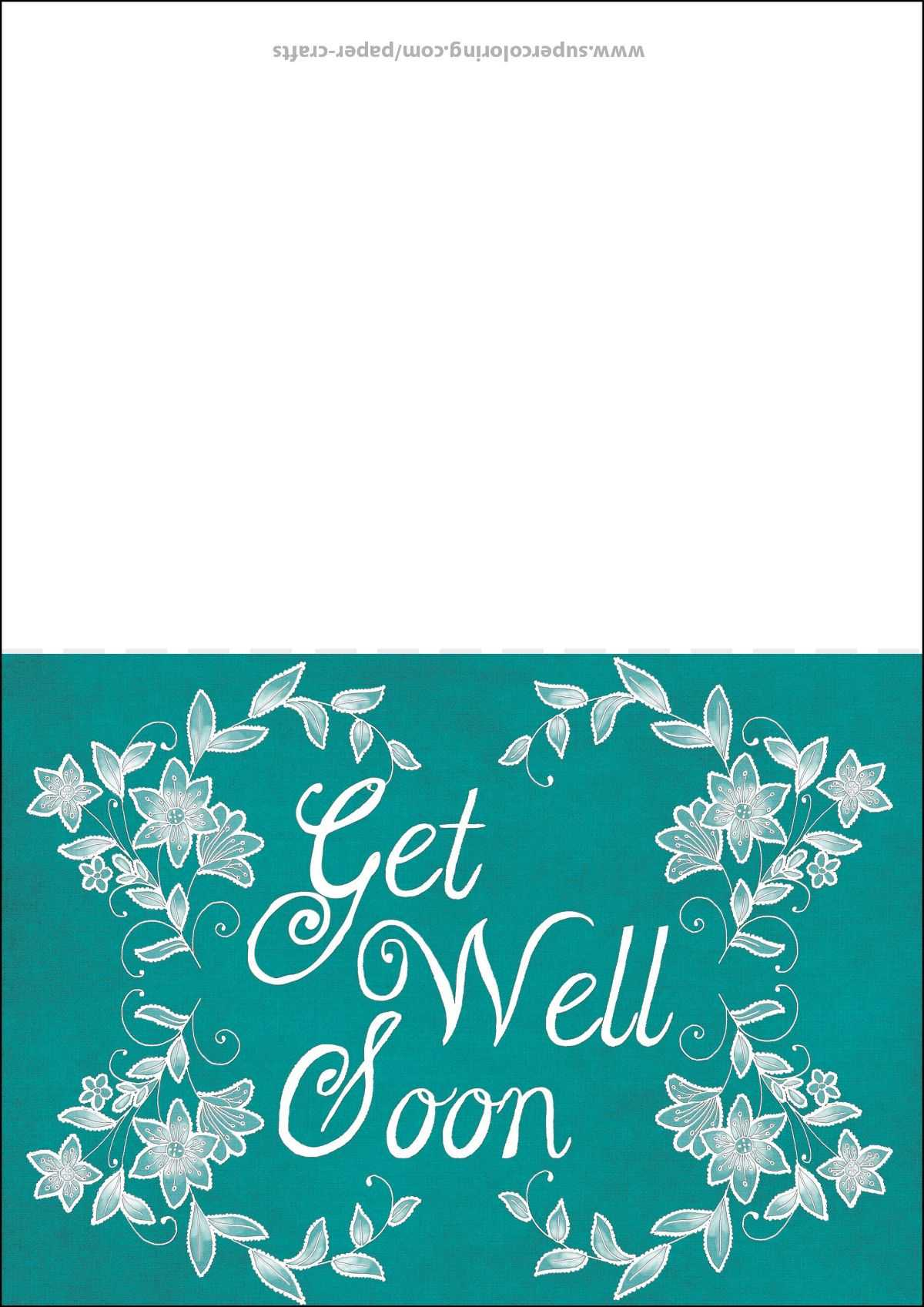 Get Well Soon Card Template | Free Printable Papercraft In Get Well Card Template