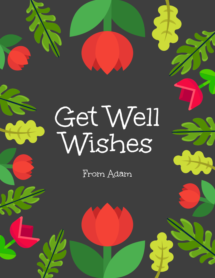 Get Well Wishes Card In Get Well Card Template