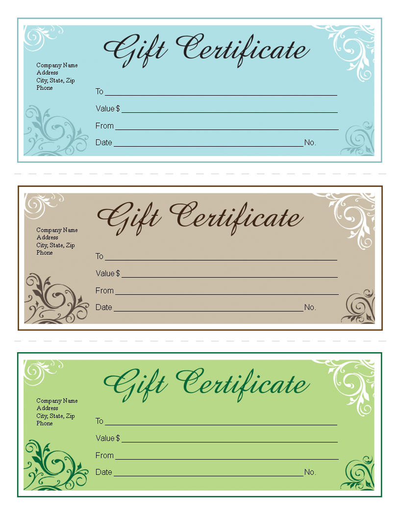 Gift Certificate Template Free Editable | Templates At Throughout Microsoft Gift Certificate Template Free Word