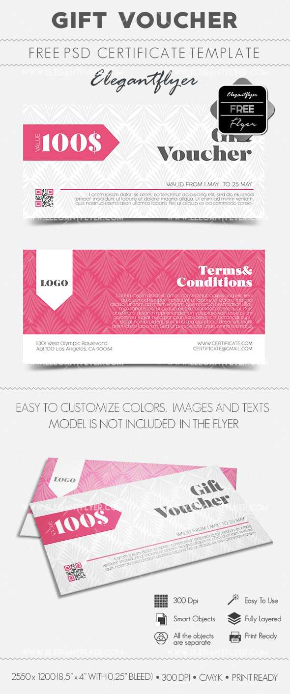 Gift Voucher – Free Gift Certificate Psd Template – For Gift Certificate Template Photoshop