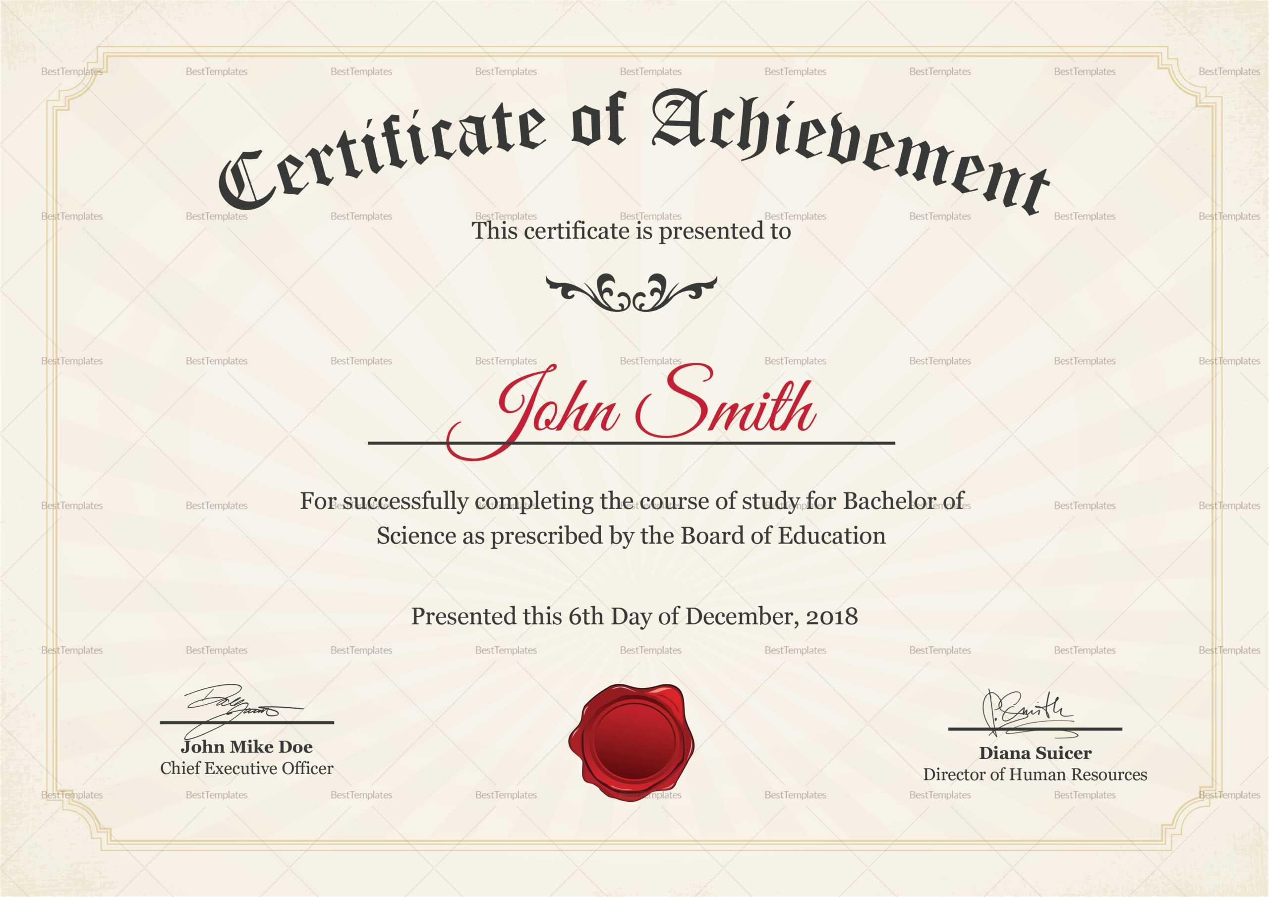 Graduation Degree Certificate Template Regarding College Graduation Certificate Template