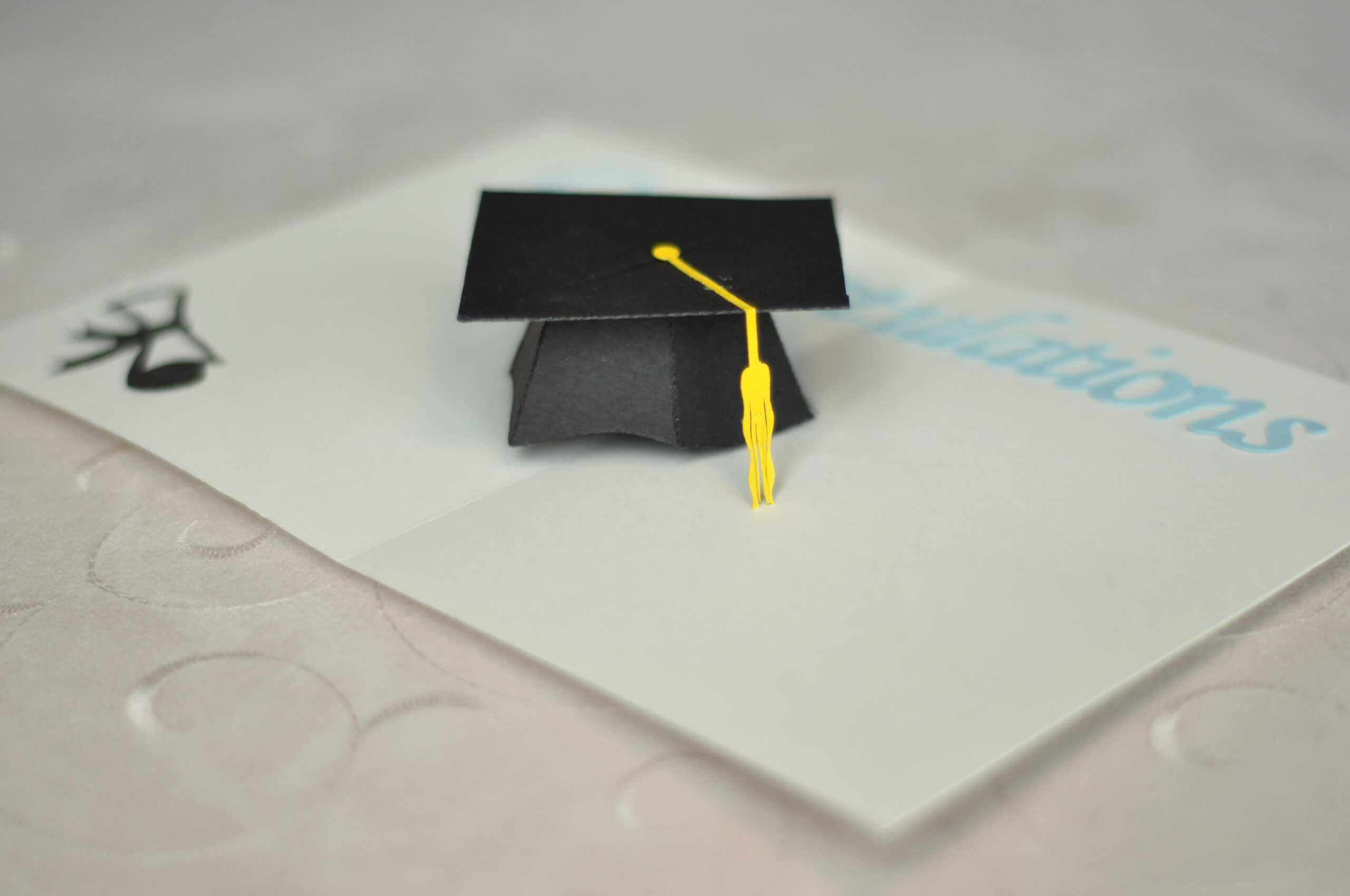 Graduation Pop Up Card: 3D Cap Tutorial – Creative Pop Up Cards Inside Graduation Pop Up Card Template