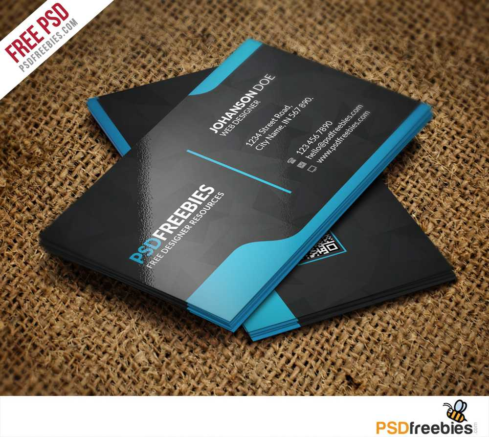 Graphic Designer Business Card Template Free Psd Within Psd Name Card Template