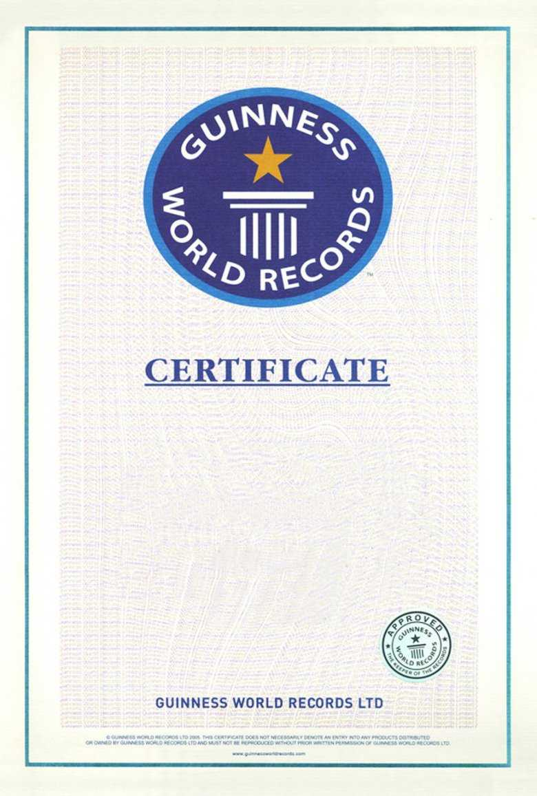 Guinness World Record Certificate Template World Records – Diff With Guinness World Record Certificate Template