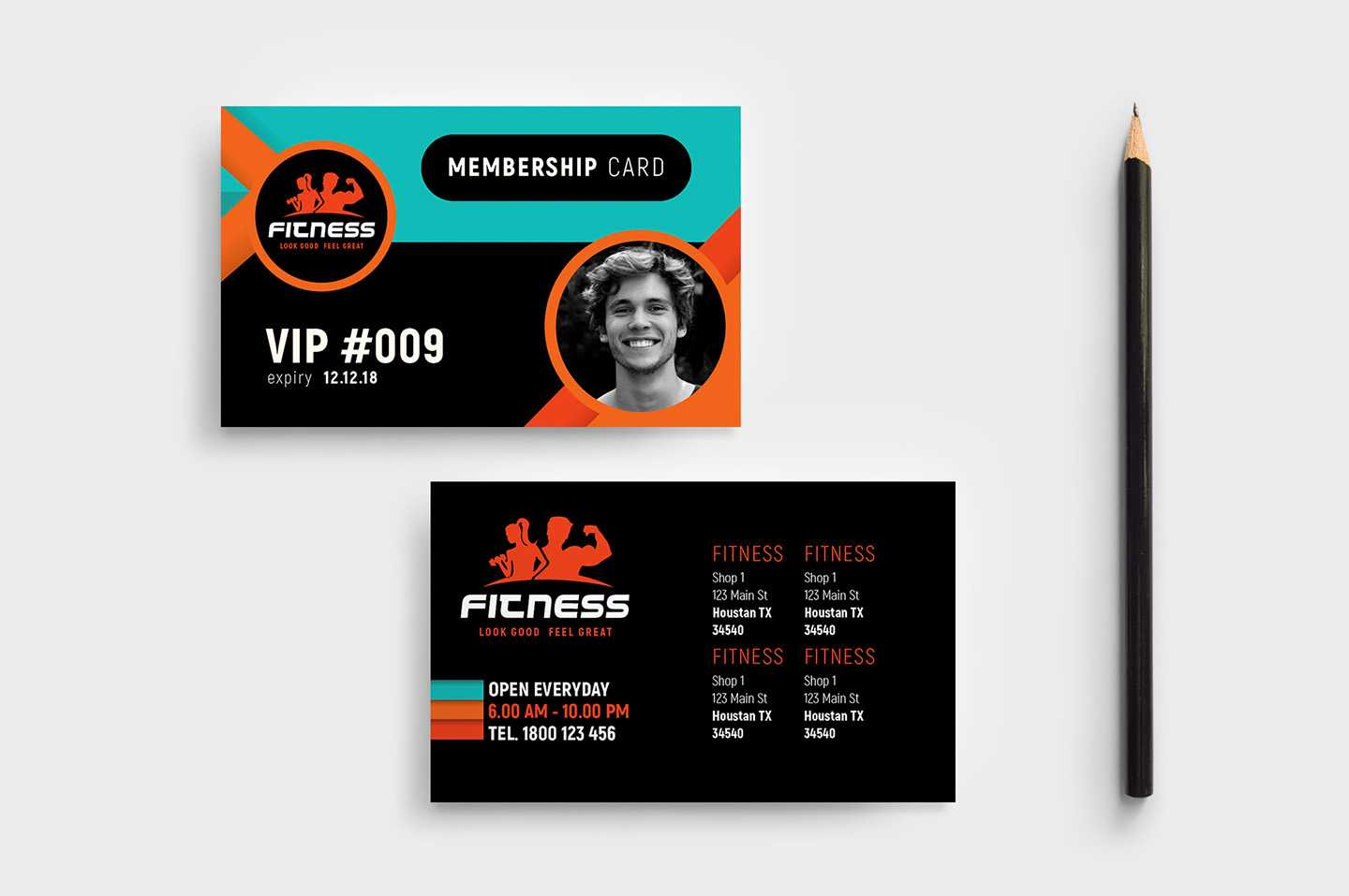 Gym / Fitness Membership Card Template In Psd, Ai & Vector Throughout Gym Membership Card Template