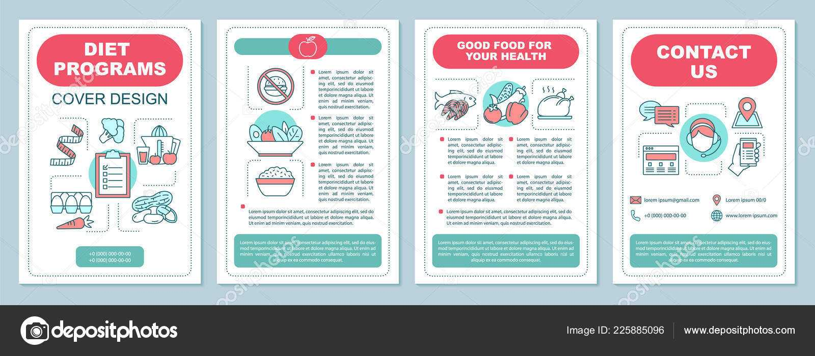 Healthy Nutrition Brochure Template Layout Dieting Program Within Nutrition Brochure Template
