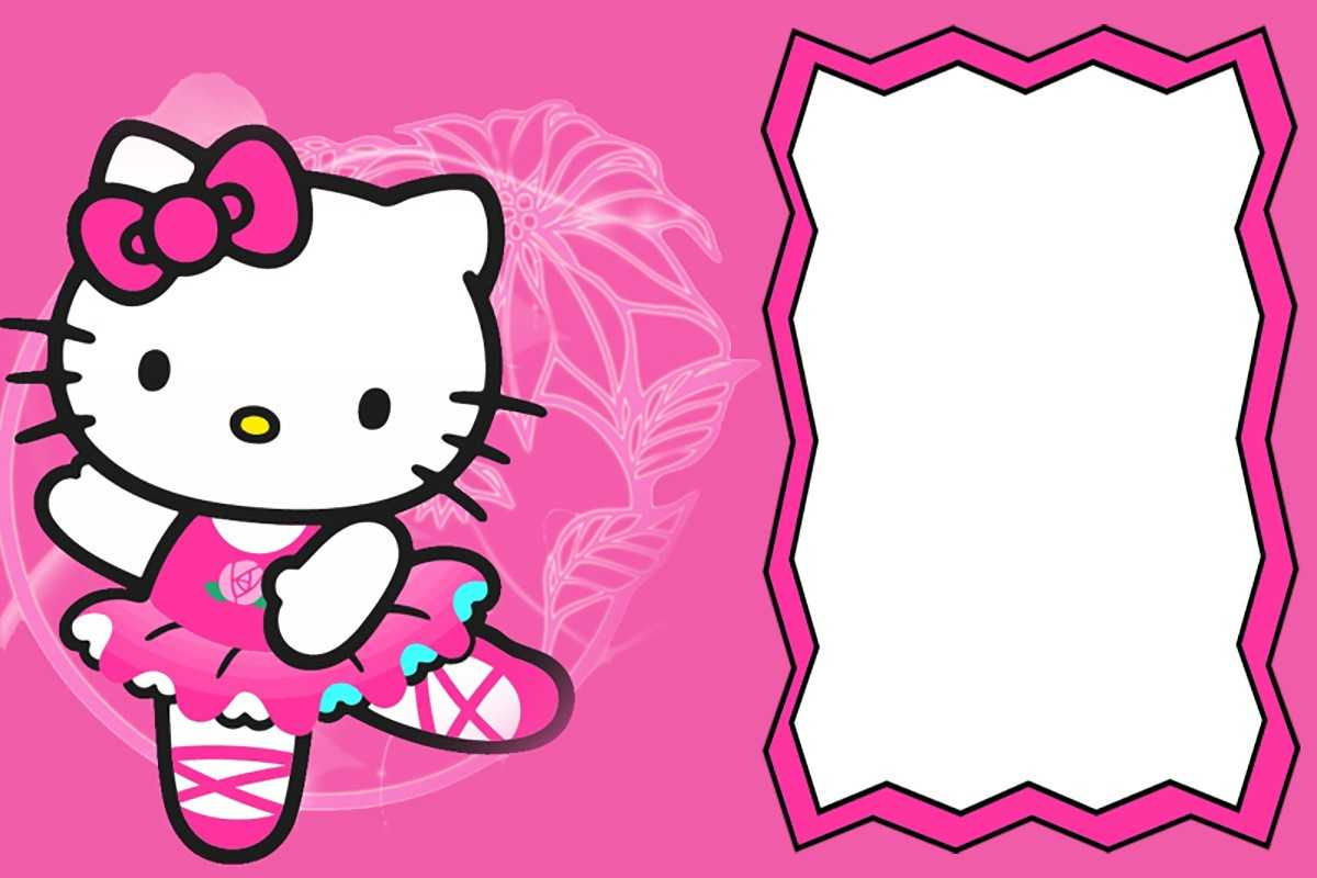 Hello Kitty Free Printable Invitation Templates Within Hello Kitty Birthday Card Template Free