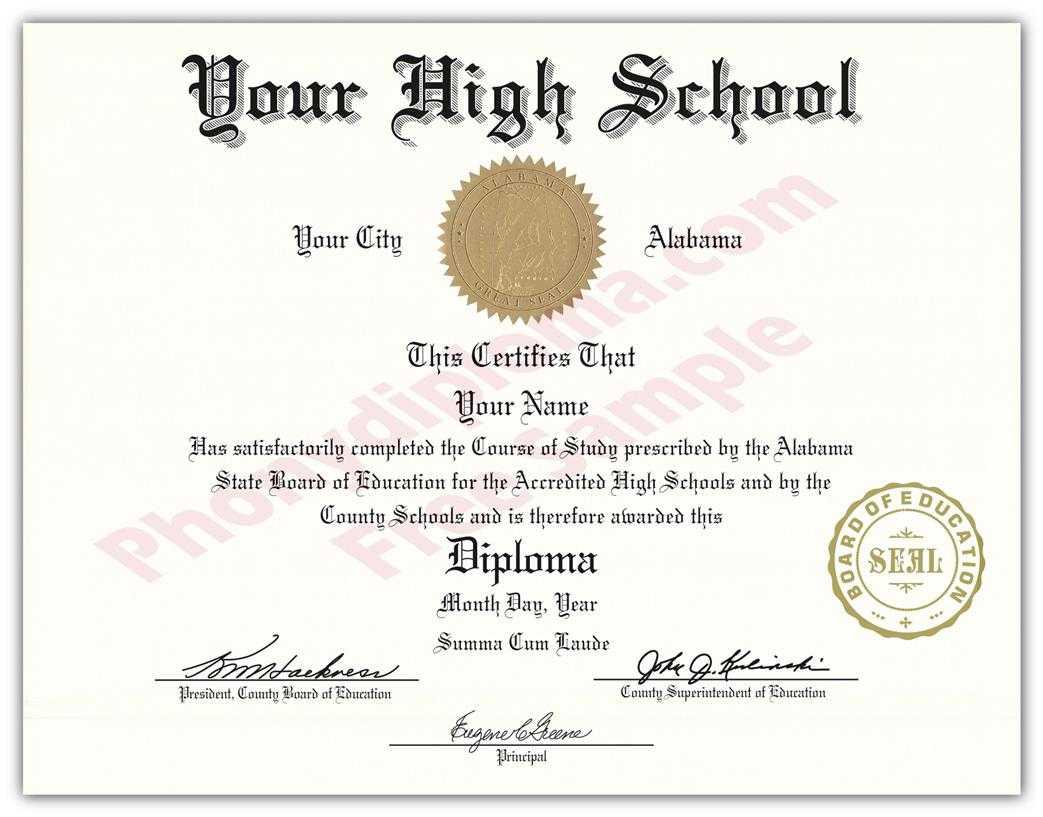 High School Diploma Certificate - Barati.ald2014 In Ged Certificate Template Download