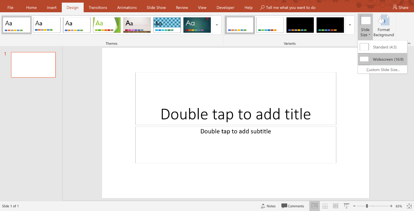 How To Change The Size And Dimensions Of Your Powerpoint Slides With Regard To Powerpoint Presentation Template Size