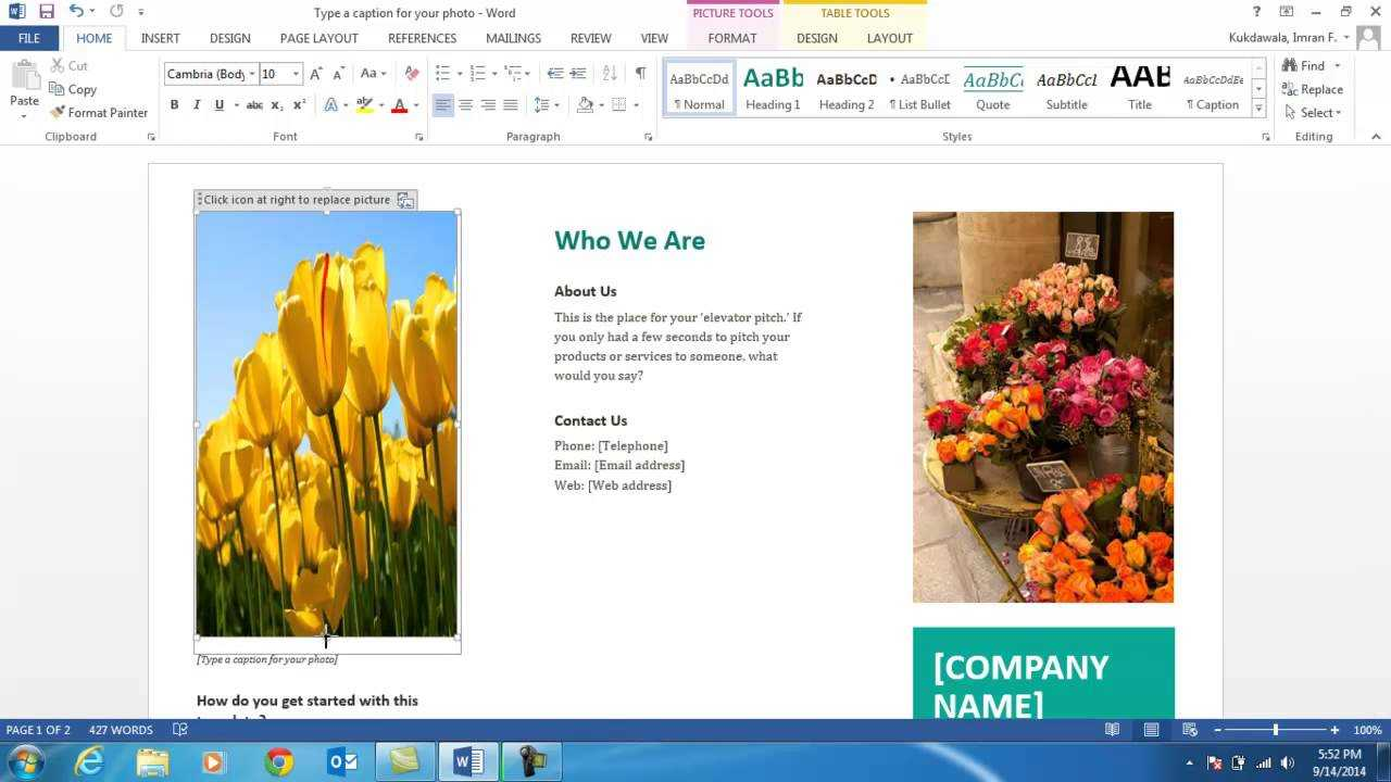 How To Create A Brochure Using Ms Word 2013 Inside Word 2013 Brochure Template