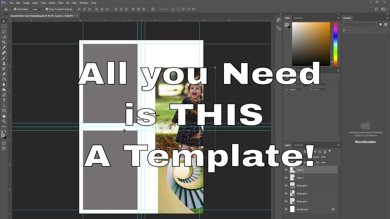 How To Create A Greeting Card Template In Photoshop With Photoshop Birthday Card Template Free