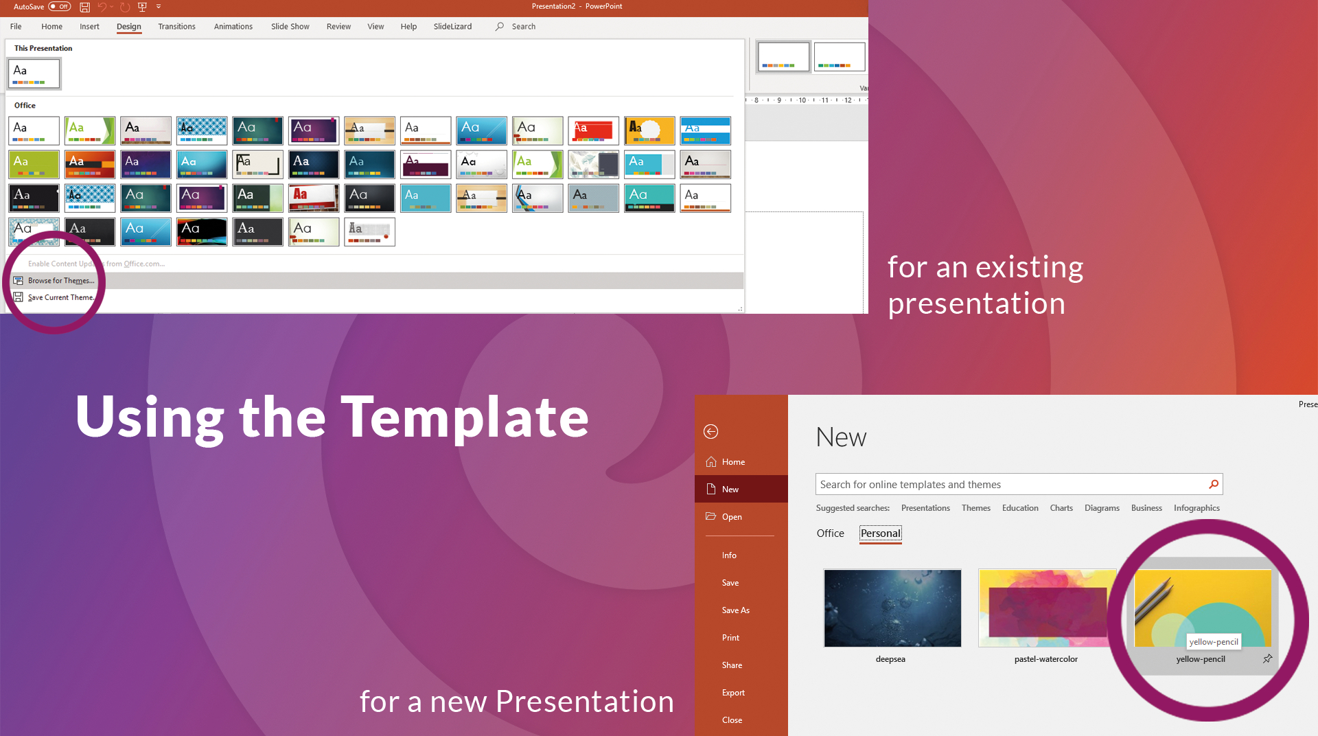 How To Create Your Own Powerpoint Template (2020) | Slidelizard With Where Are Powerpoint Templates Stored