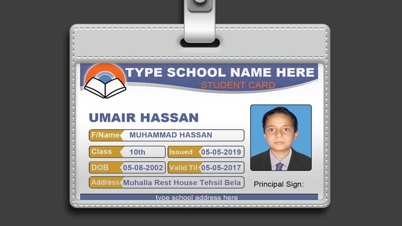How To Design Id Card In Photoshop + Psd Free Download ~ Al Pertaining To College Id Card Template Psd