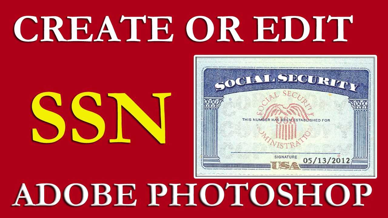 How To Edit Ssn | Ssn Pdf Template Download Free On Vimeo For Social Security Card Template Psd
