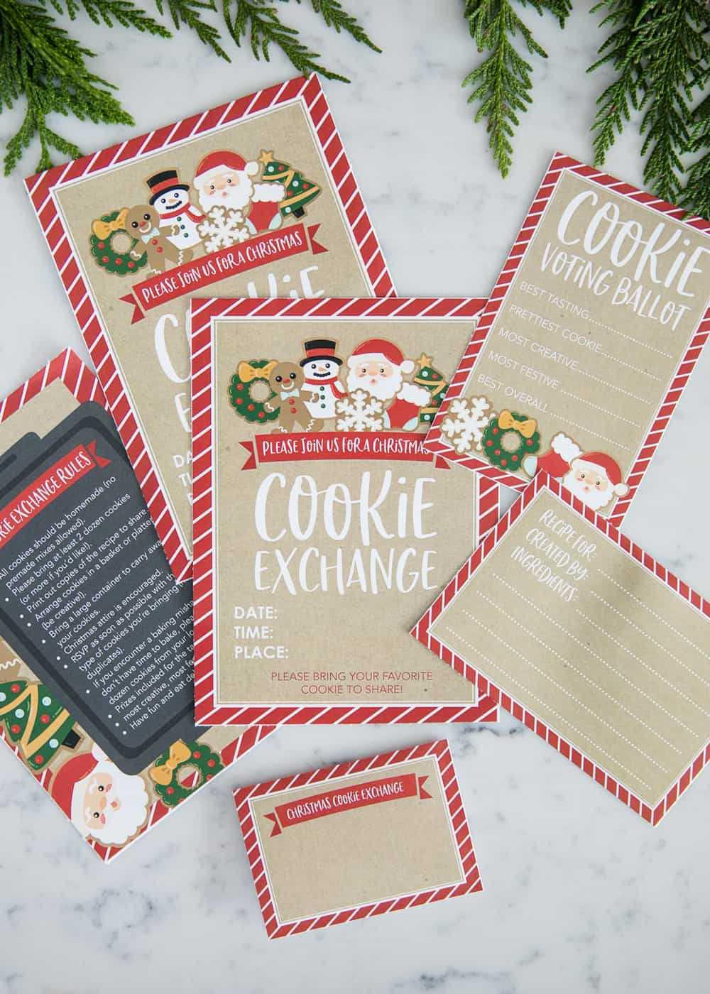 How To Host A Cookie Exchange (W/ Free Printables!) - I For Cookie Exchange Recipe Card Template