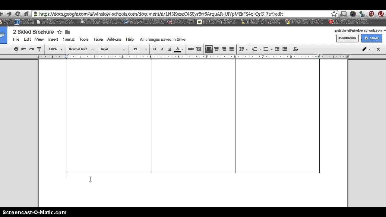 How To Make 2 Sided Brochure With Google Docs Inside Brochure Template Google Drive
