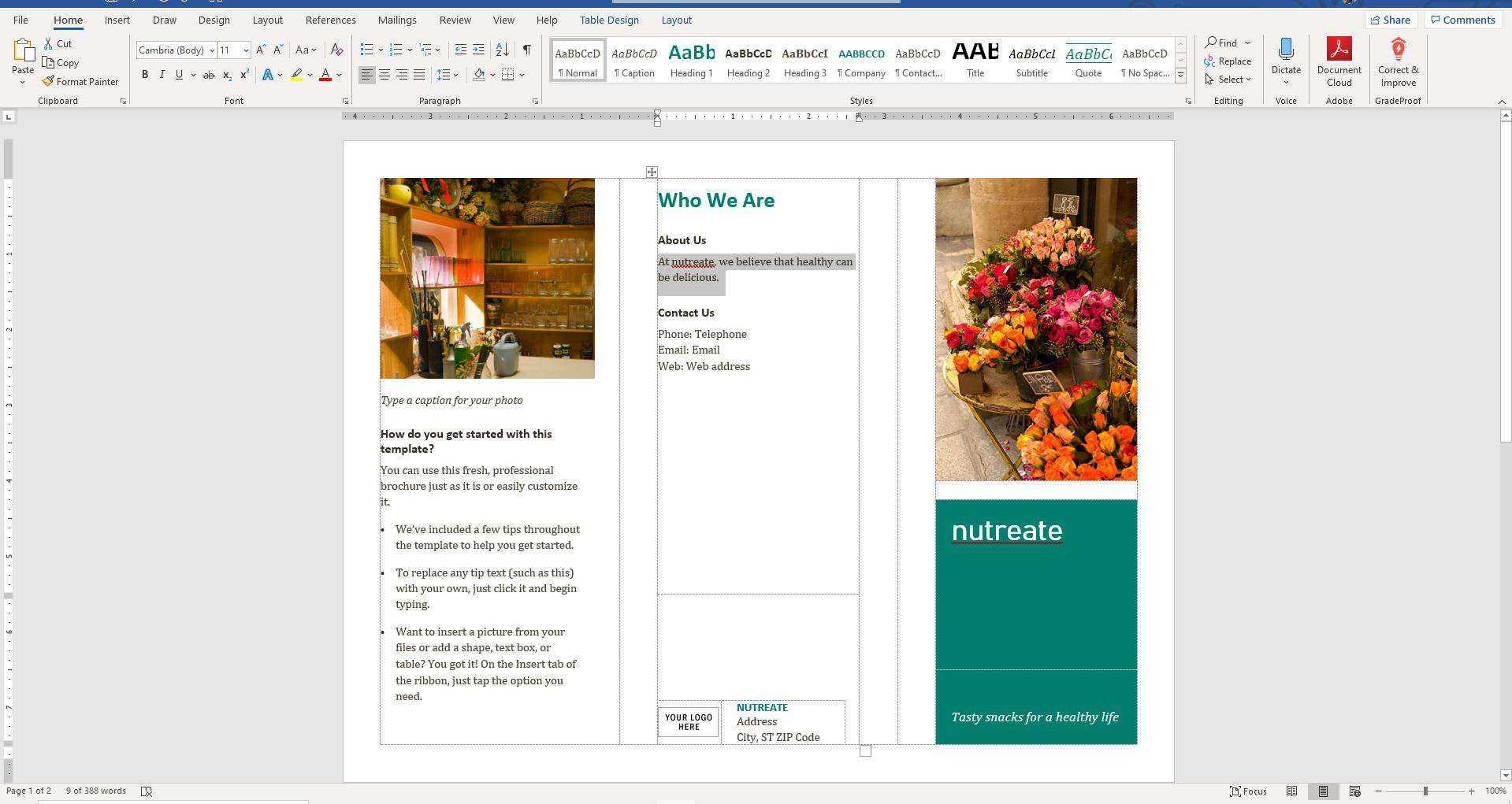How To Make A Brochure On Microsoft Word Inside Word 2013 Brochure Template
