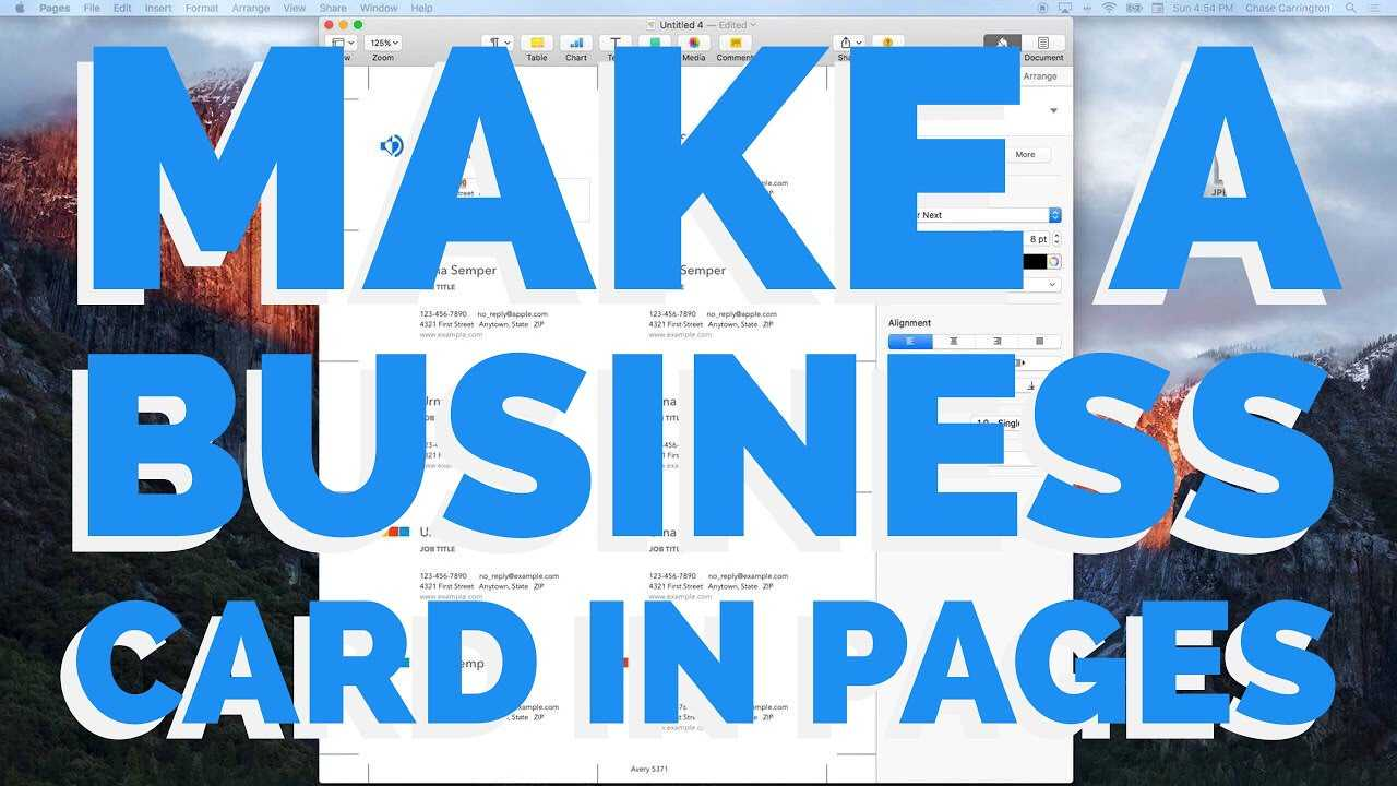 How To Make A Business Card In Pages For Mac (2016) With Regard To Business Card Template Pages Mac