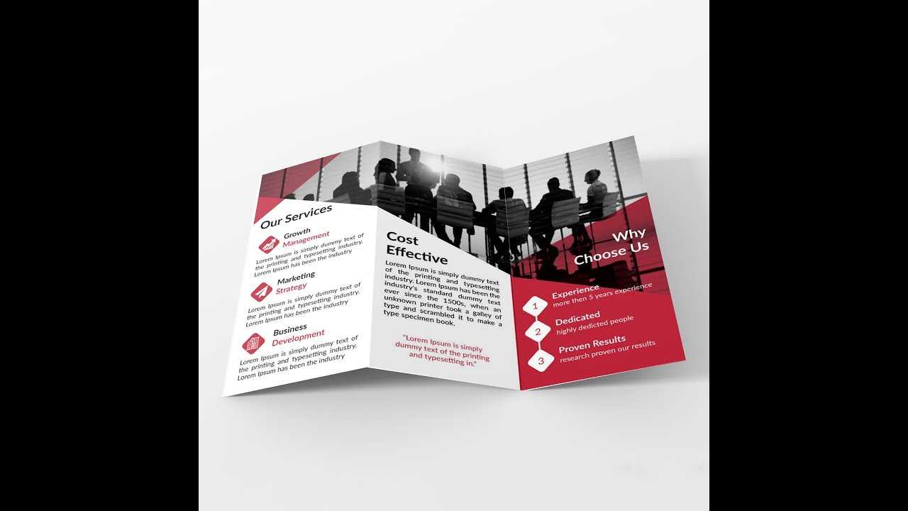 How To Make Tri Fold Brochure Layout In Adobe Illustrator (Bangla) In Adobe Tri Fold Brochure Template