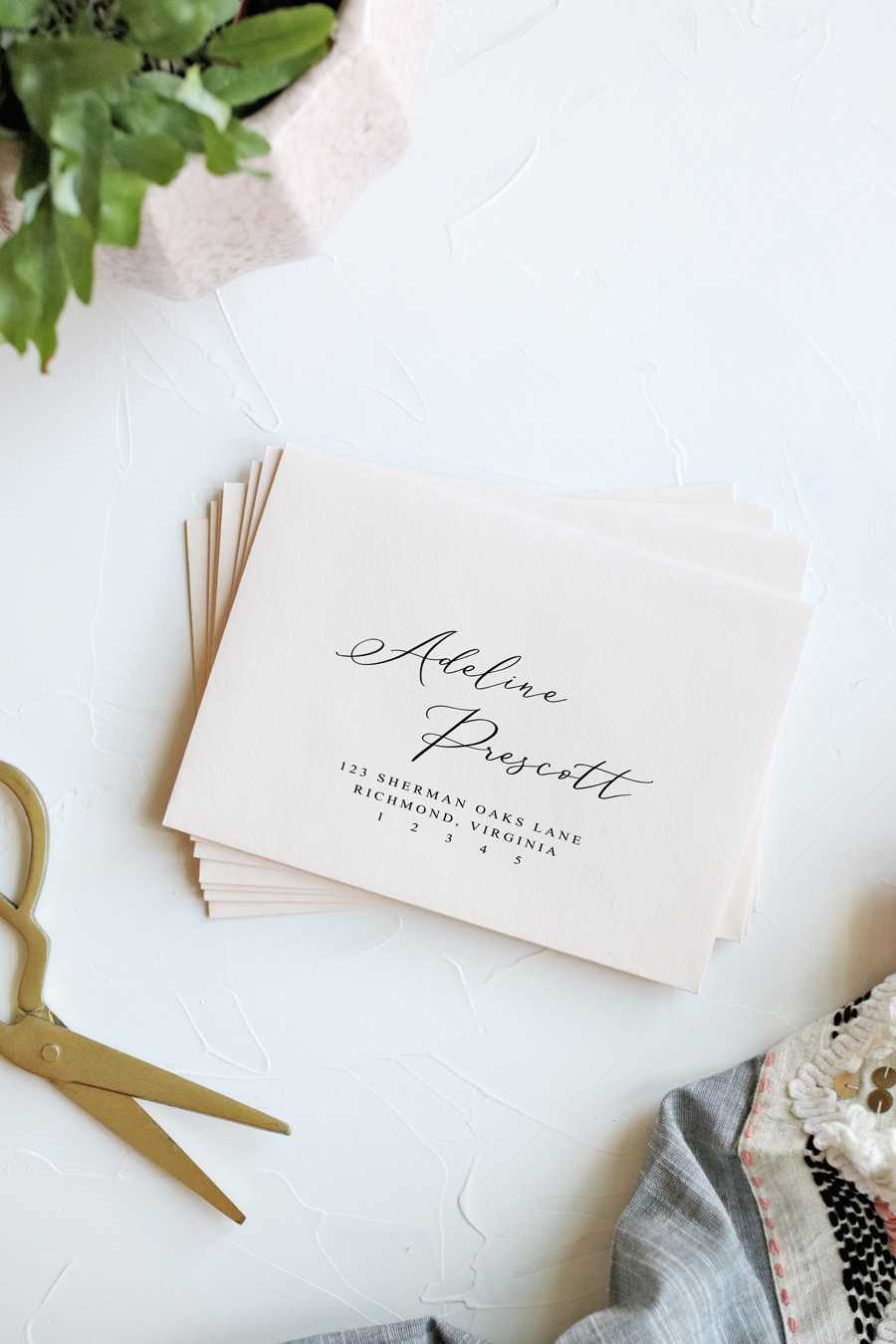 How To Print Envelopes The Easy Way | Pipkin Paper Company Regarding Paper Source Templates Place Cards