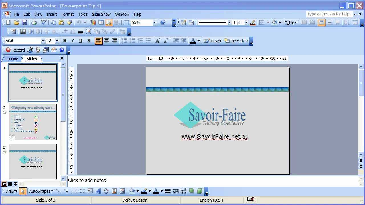 How To Save A Powerpoint Presentation As An Automatic Slideshow -  Powerpoint 2003 In How To Save Powerpoint Template