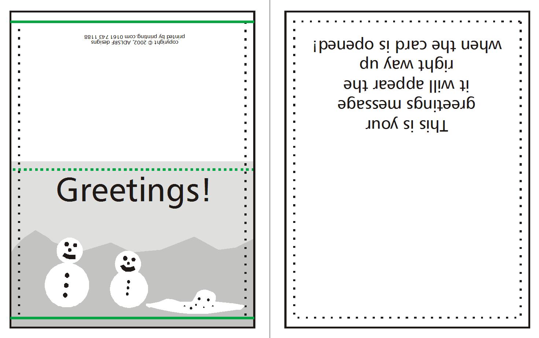 How To Supply Greeting/christmas Cards   Printing Uk Regarding Quarter Fold Card Template