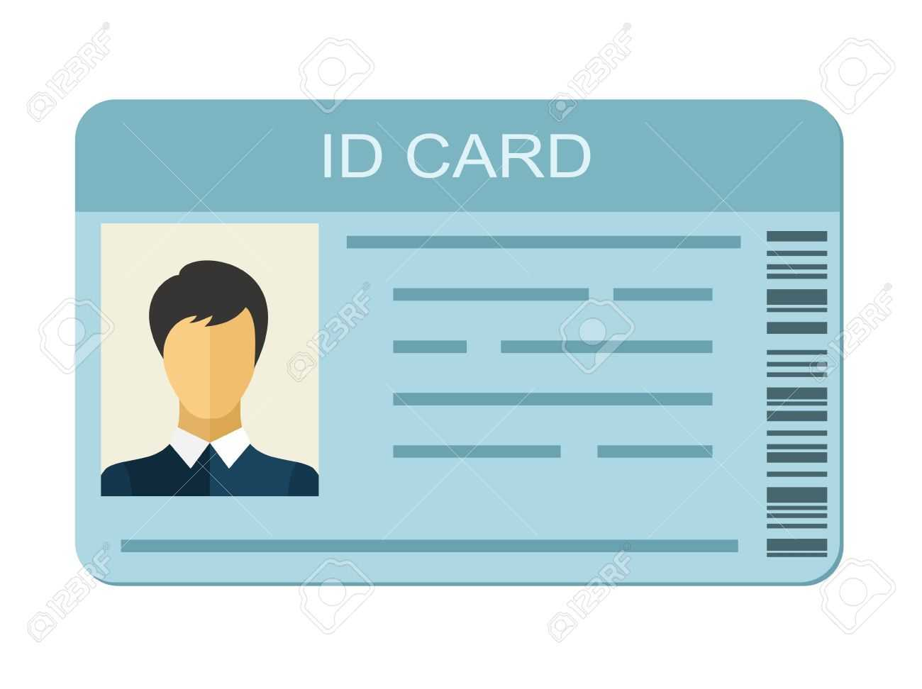 Id Card Isolated On White Background. Identification Card Icon Pertaining To Personal Identification Card Template