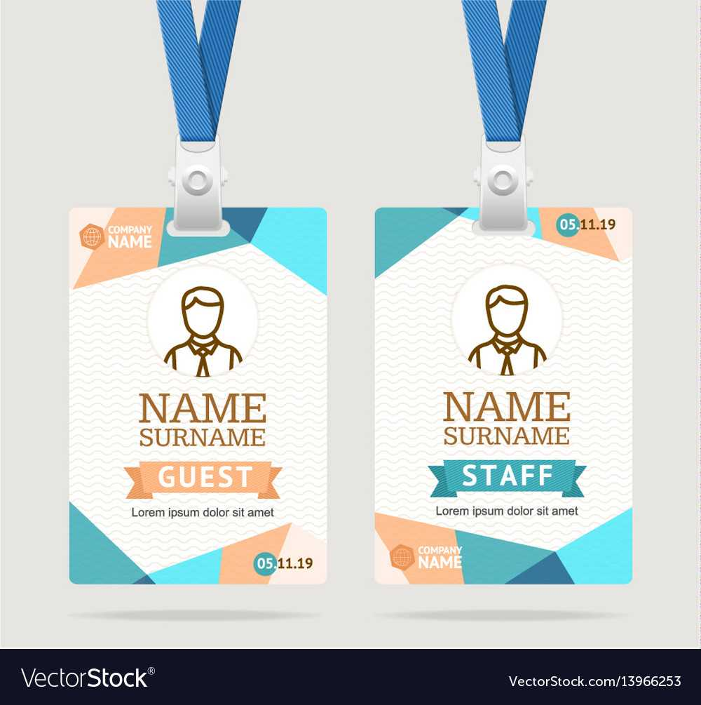 Id Card Template Plastic Badge Pertaining To Pvc Card Template
