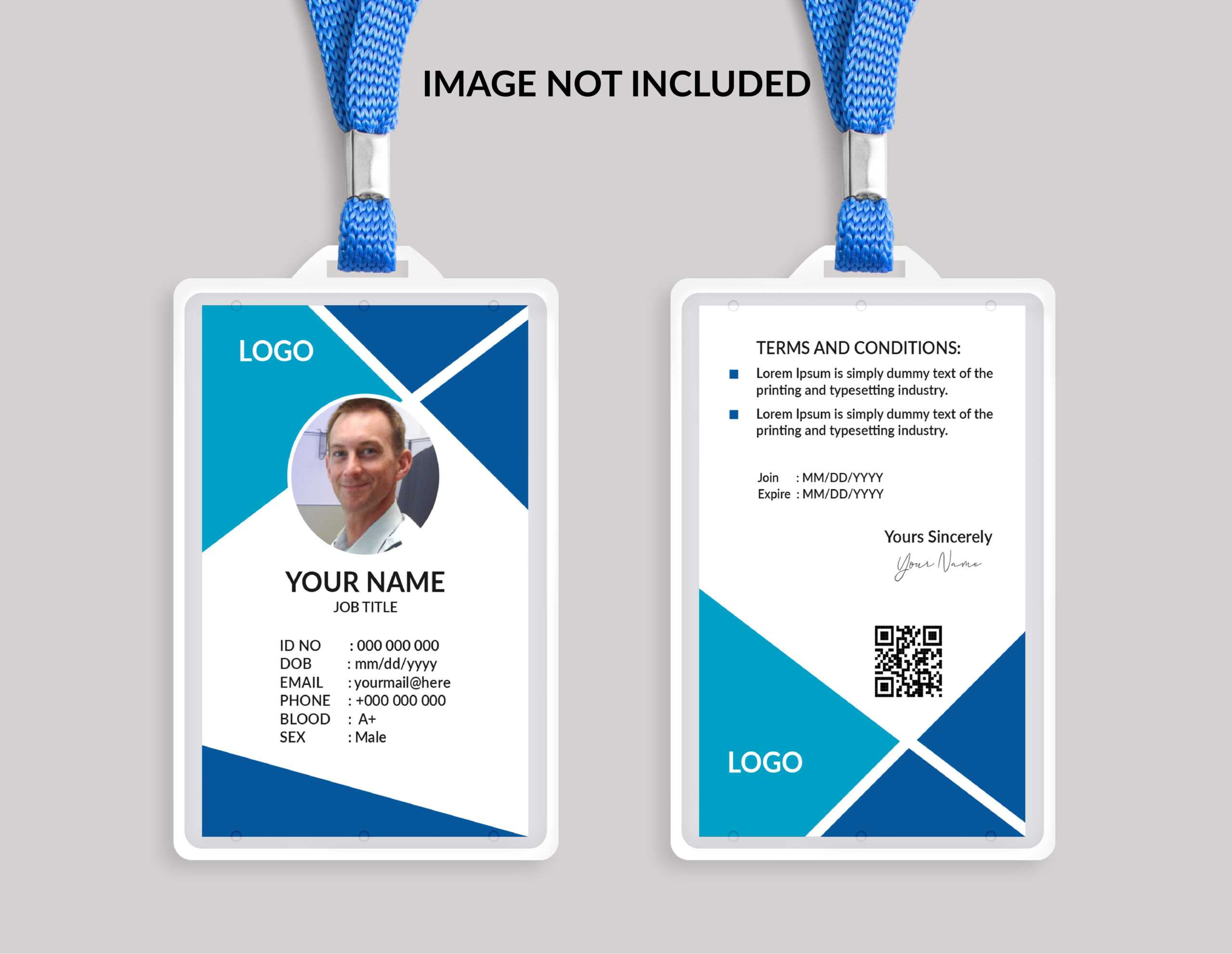 Id Card Template Portrait Free Vector Art - (88,415 Free With Portrait Id Card Template