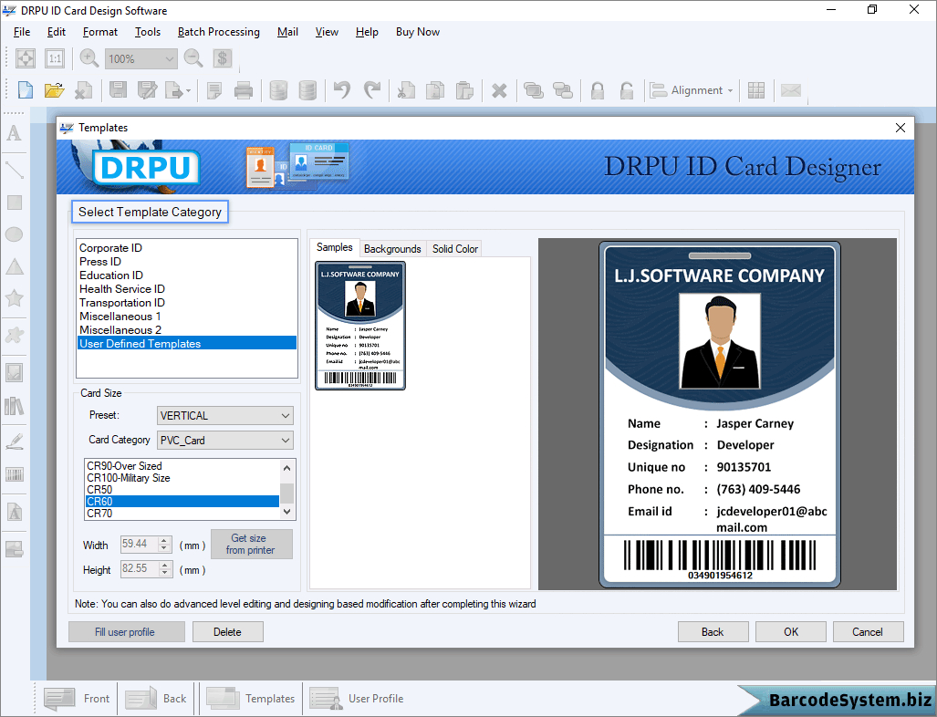 Identity Card Software Design Student Employee Faculty Photo Pertaining To Faculty Id Card Template