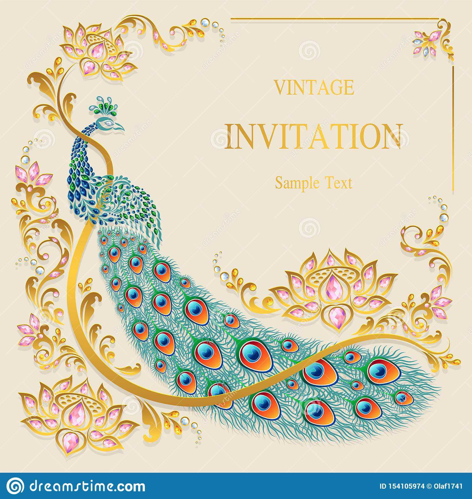 Indian Wedding Invitation Card Templates . Stock Vector Inside Indian Wedding Cards Design Templates