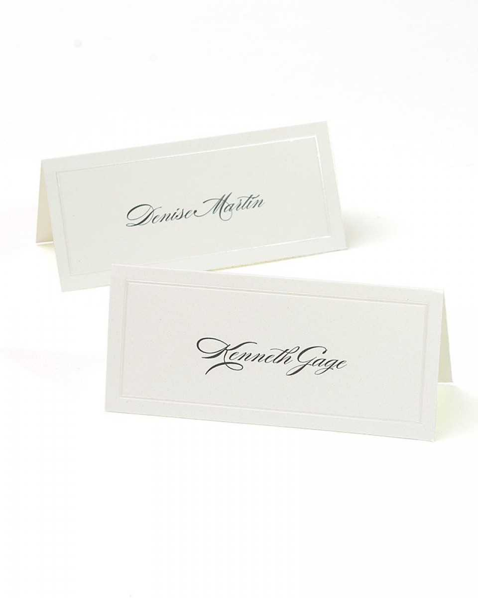 Ivory Pearl Border Printable Place Cards Regarding Gartner Studios Place Cards Template