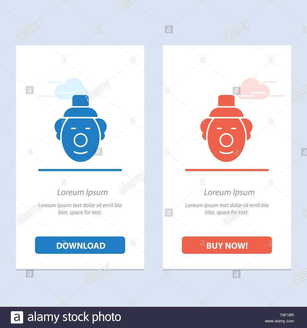 Joker, Clown, Circus Blue And Red Download And Buy Now Web With Joker Card Template