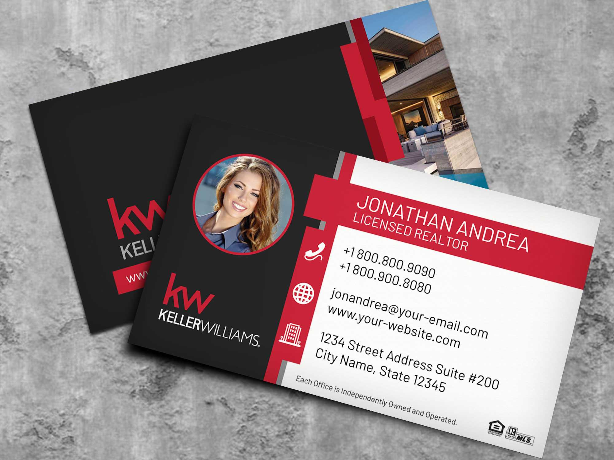 Keller Williams Business Card Template Bc19702Kw - Nusacreative Throughout Keller Williams Business Card Templates