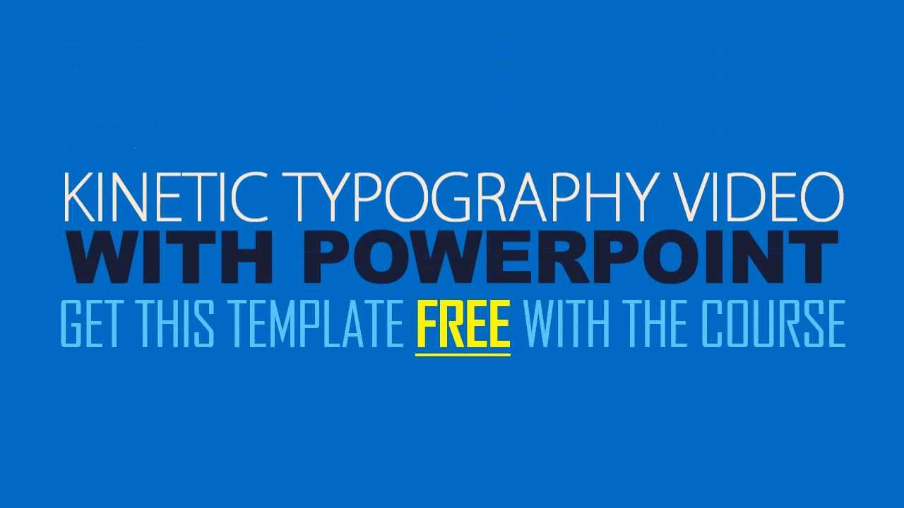 Kinetic Typography Explainer Video With Powerpoint With Regard To Powerpoint Kinetic Typography Template