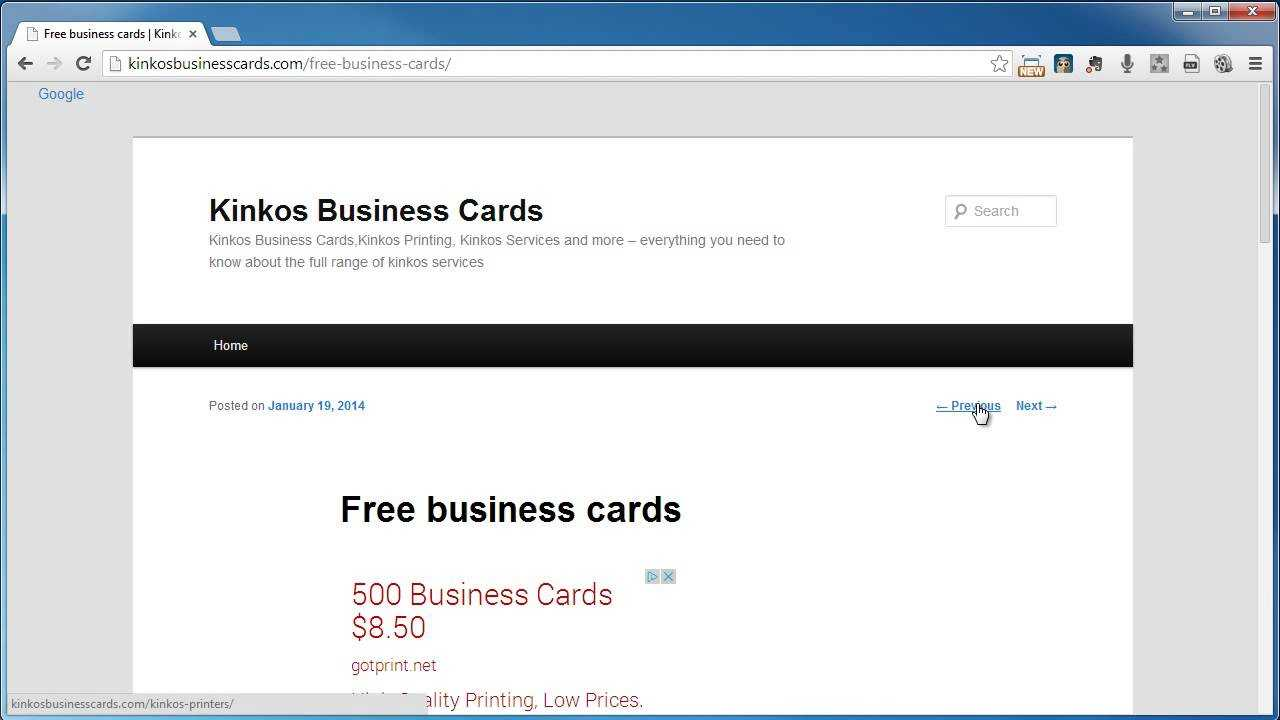 Kinkos Business Cards With Kinkos Business Card Template