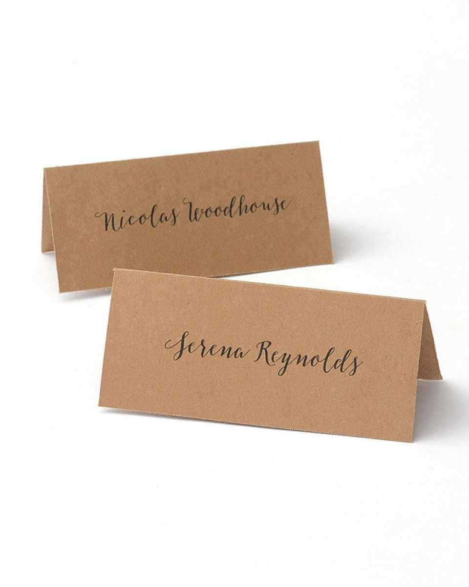 Kraft Printable Place Cards Regarding Gartner Studios Place Cards Template