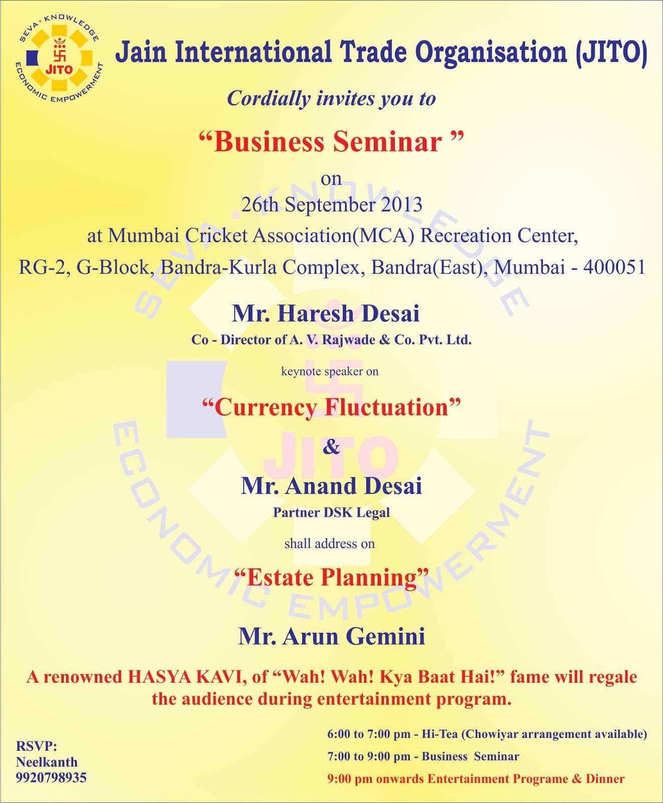 Kulasara: 25 Elegant Seminar Invitation Card Design Pertaining To Seminar Invitation Card Template