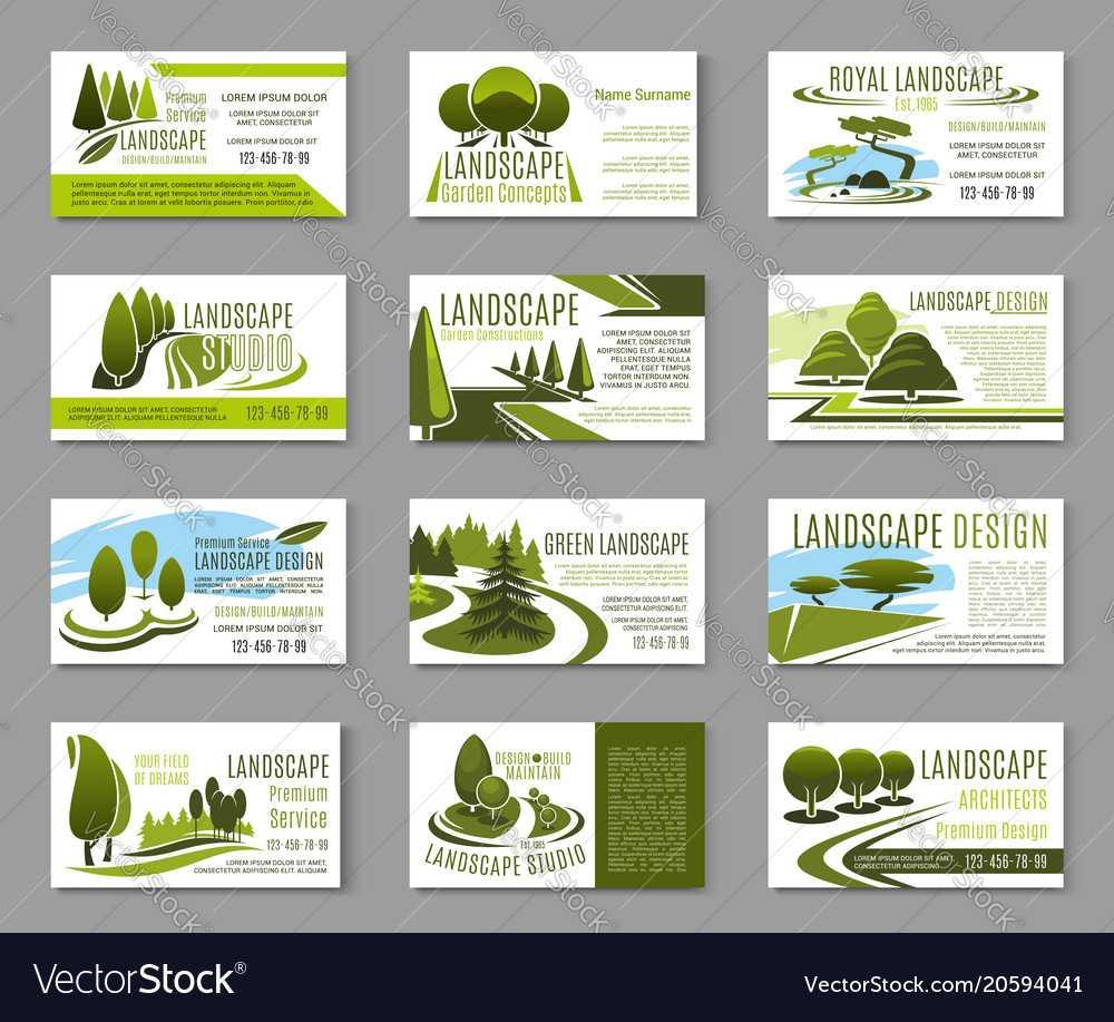 Landscape Design Studio Business Card Template Pertaining To Landscaping Business Card Template