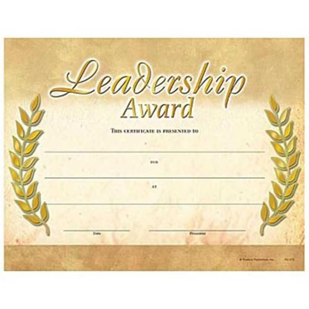 Leadership Award Gold Foil Stamped Certificates – Pack Of 25 Pertaining To Leadership Award Certificate Template