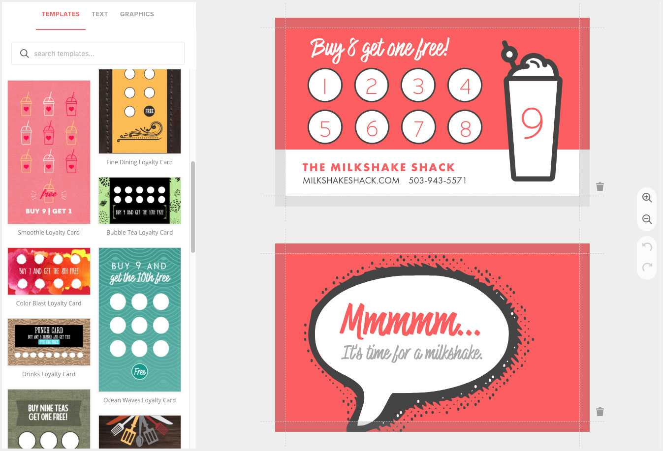 Loyalty Card Maker, Custom Punch Cards - Musthavemenus With Business Punch Card Template Free