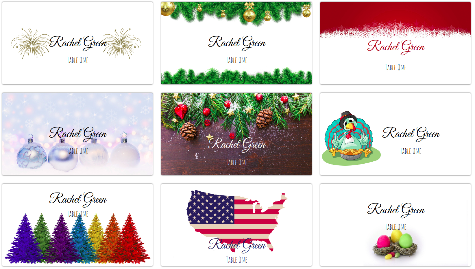 Making Your Own Holiday Place Cards At Home | Place Card Me Inside Christmas Table Place Cards Template