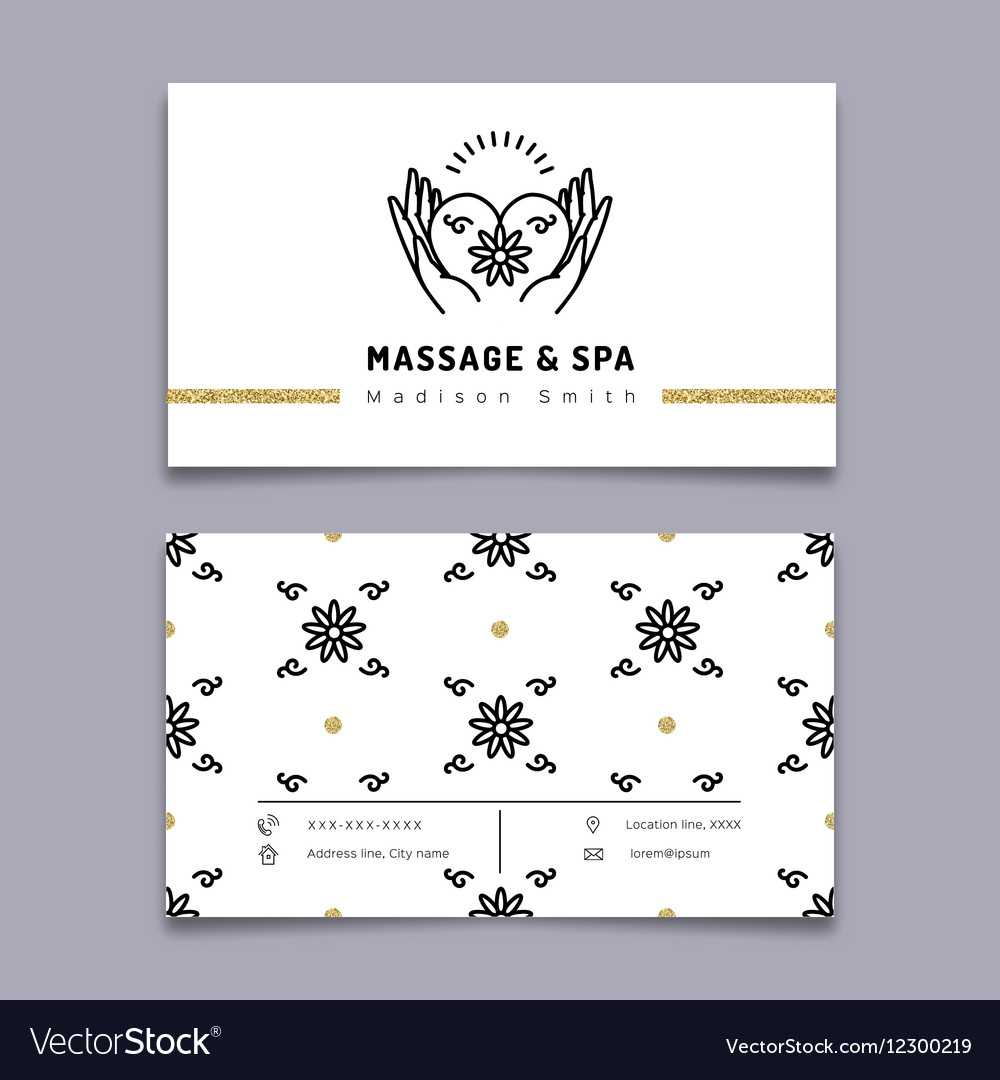 Massage And Spa Therapy Business Card Template Pertaining To Massage Therapy Business Card Templates