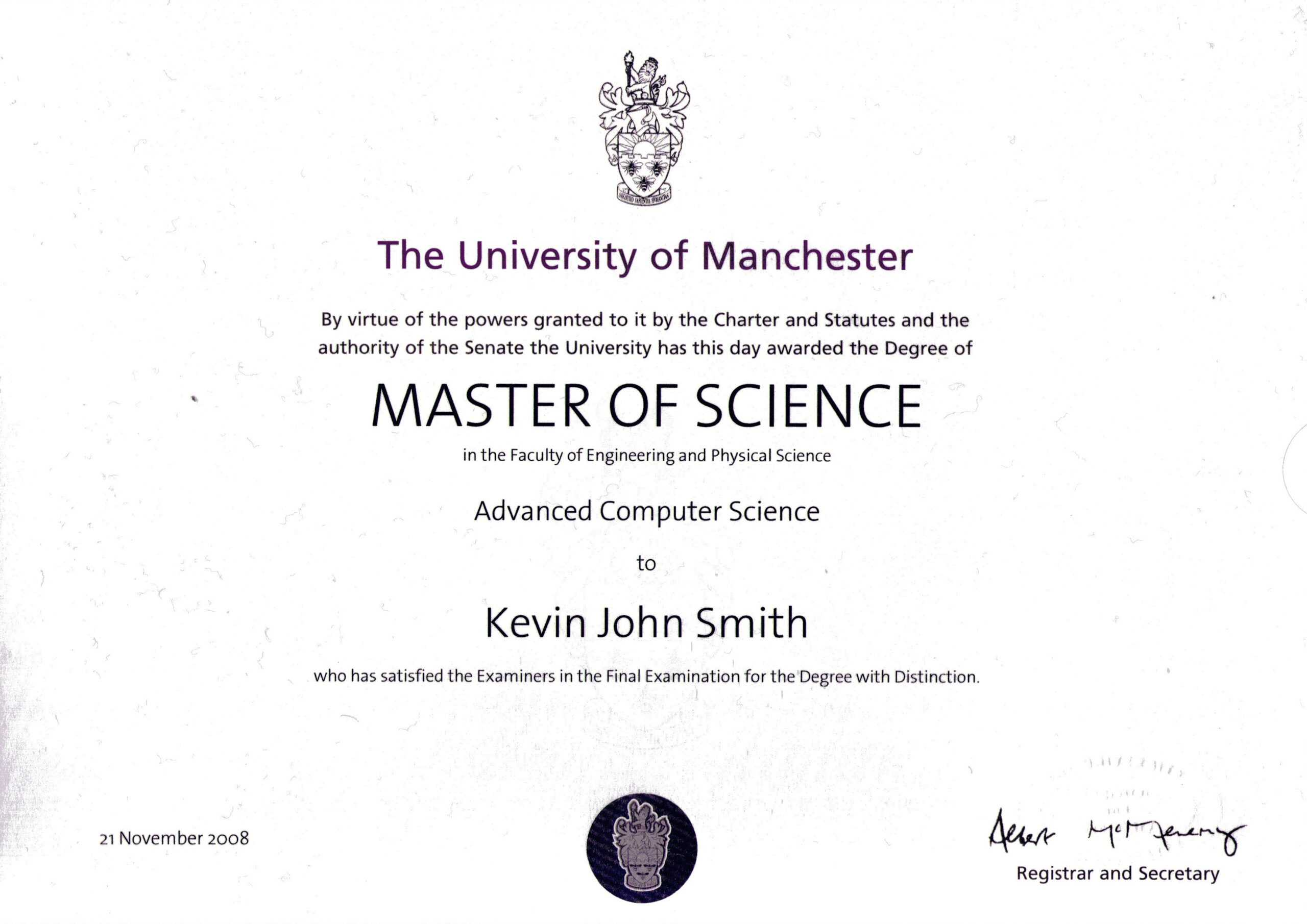 Masters Degree Certificate Template Awesome Templates Free With Regard To Masters Degree Certificate Template
