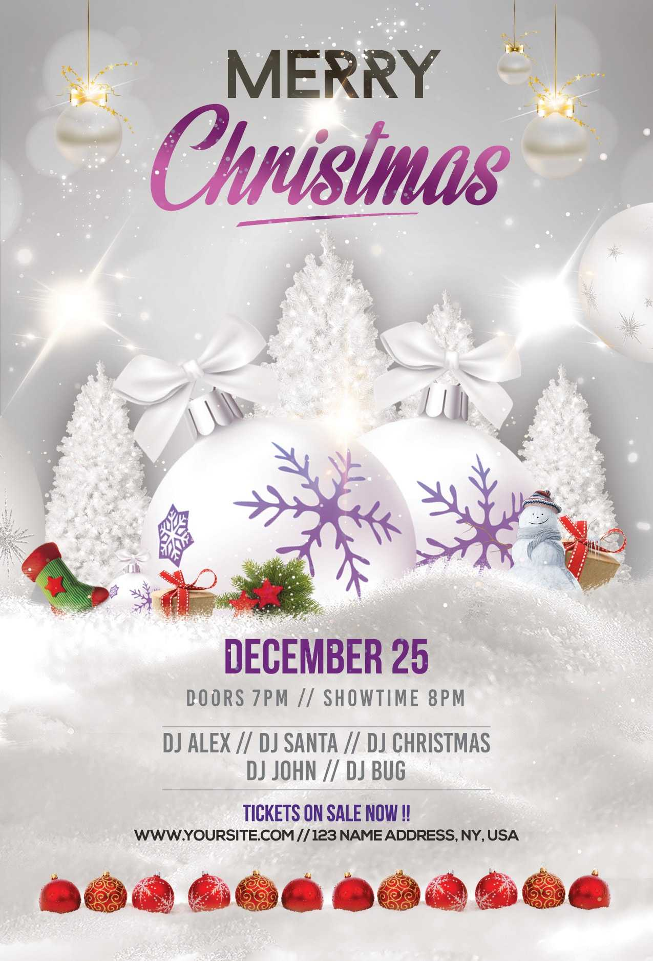Merry Christmas & Holiday Free Psd Flyer Template - Stockpsd Intended For Christmas Brochure Templates Free
