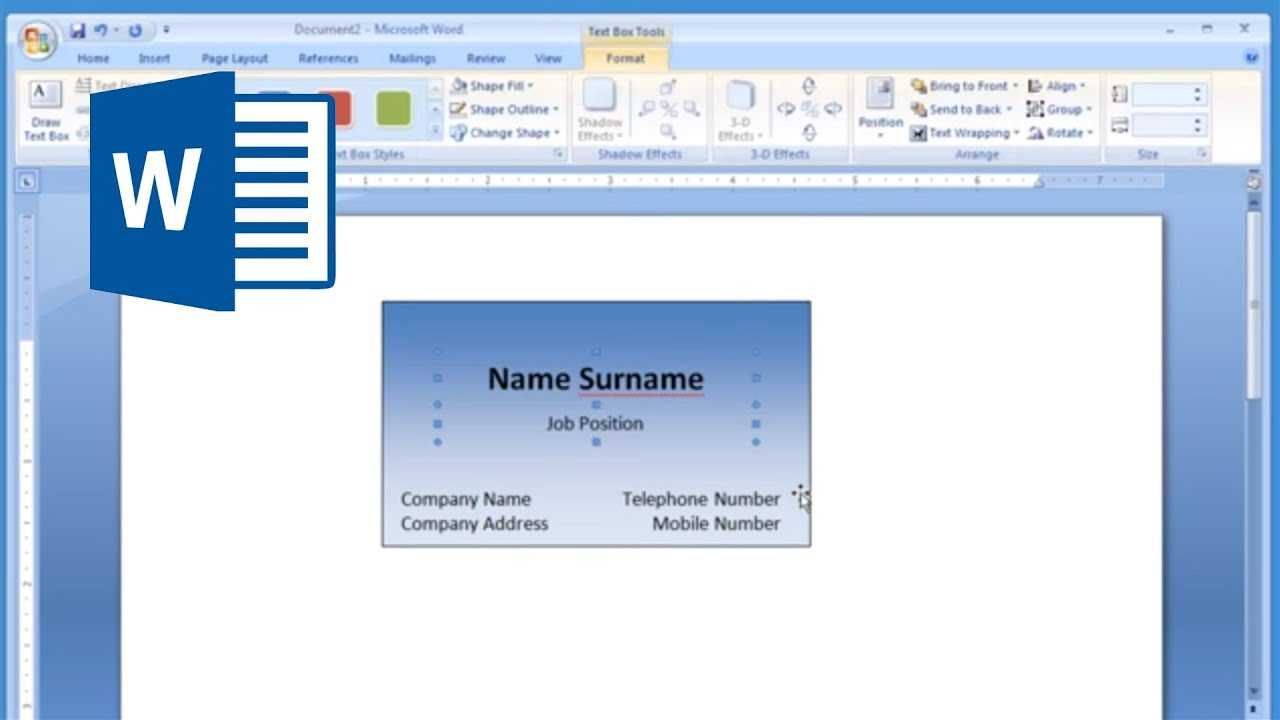Microsoft Word - How To Make And Print Business Card 1/2 Intended For Front And Back Business Card Template Word